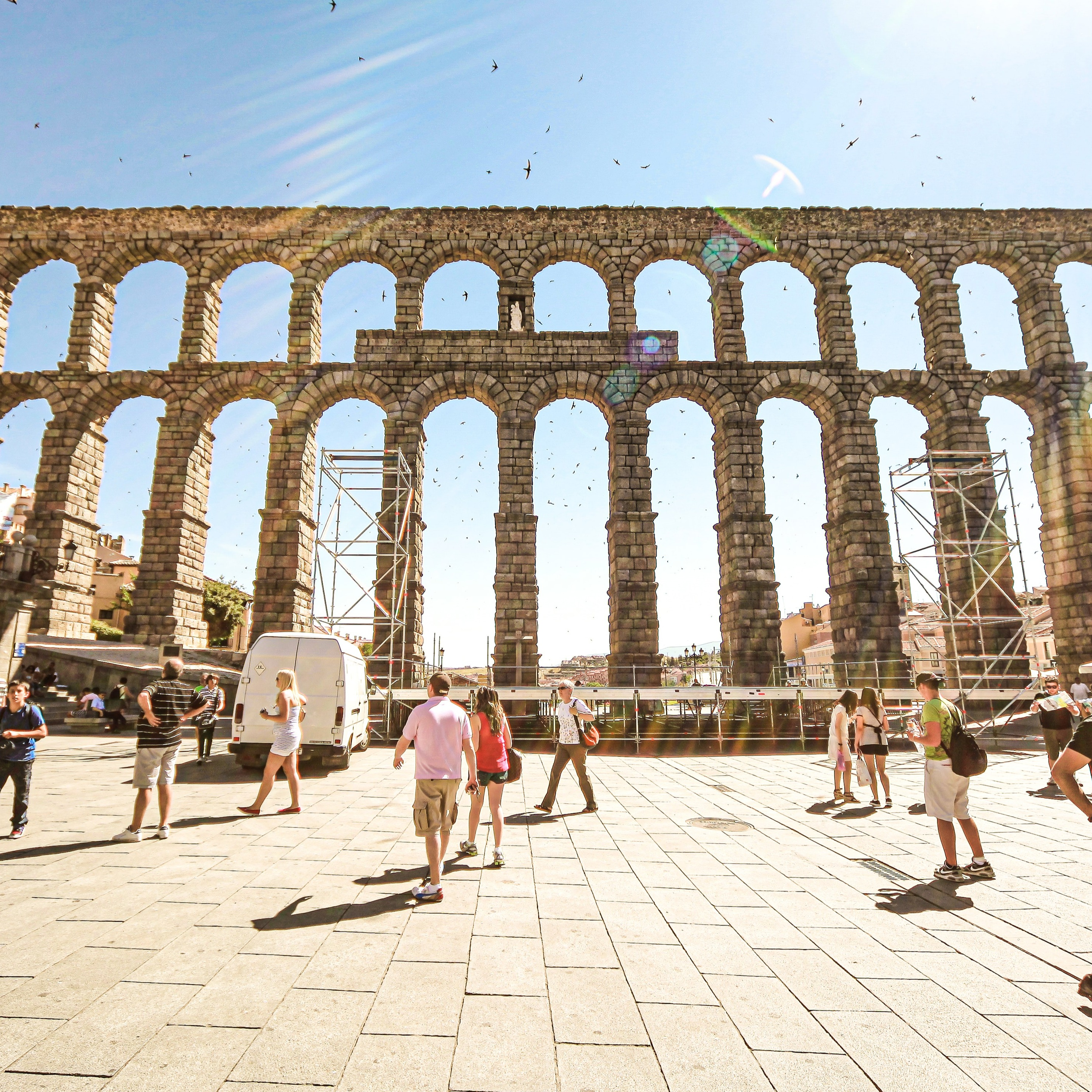 Figurantes para serie de TV en Segovia